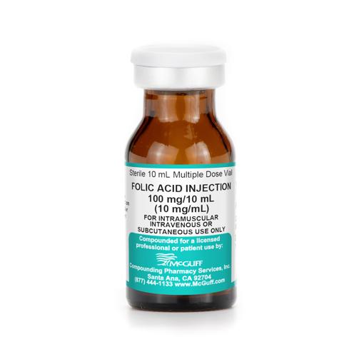 Picture of Folic Acid 10 mg/mL 10 mL MDV