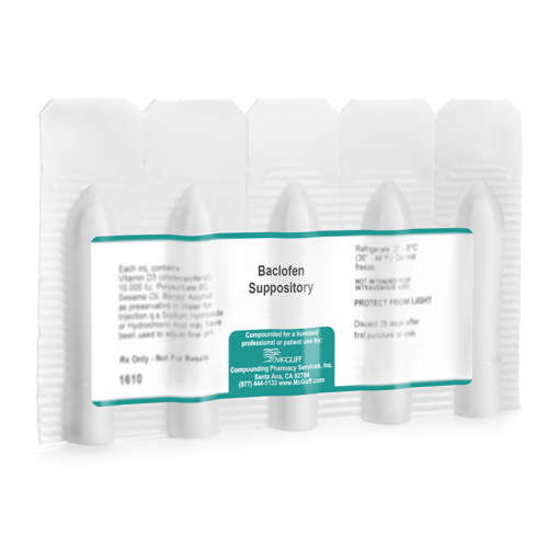 Baclofen Suppository