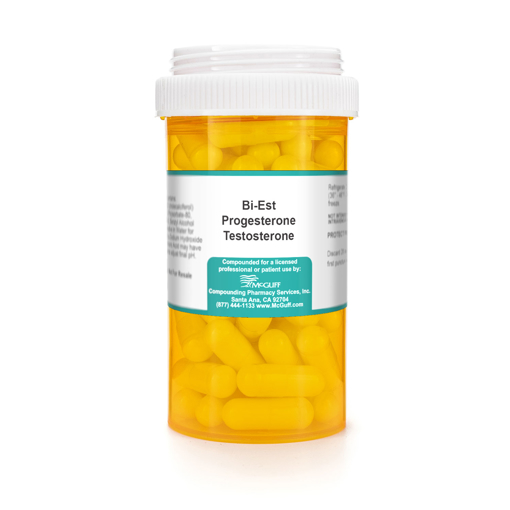 Bi-Est (Estradiol and Estriol) 2.5 mg Progesterone 75 mg Testosterone 0.25 mg Capsule Capsule