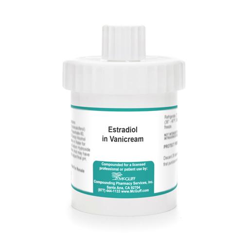 Estradiol 0.1% 60 gm in Vanicream