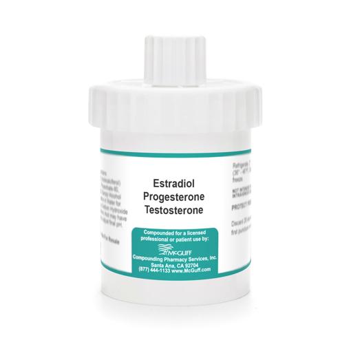 Estradiol 0.55% with Progesterone 19% Testosterone 0.04% 90 gm Cream