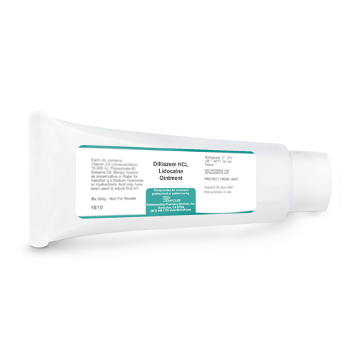 Diltiazem HCL 2% with Lidocaine 5% Ointment