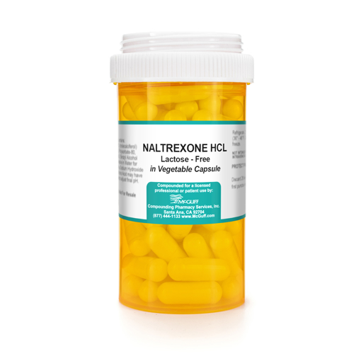 Naltrexone HCL (Low-Dose Naltrexone), Lactose-Free, Vegetable Capsule